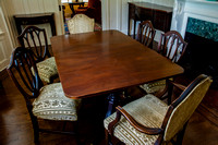 Dining Table (10 piece with upholstered chairs)