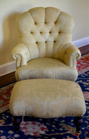 Edwardian Chair with Ottoman  $350
